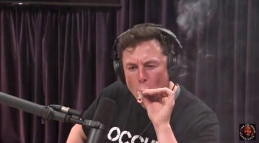 Elon Musk smoking