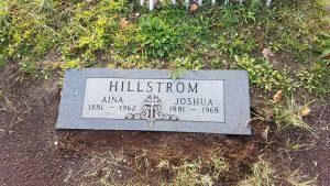 Grave in Hancock, MI cemetery.