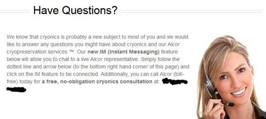 Alcor Customer Service