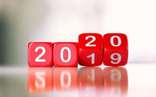 red dice changing year to 2020