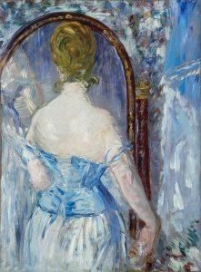 Manet painting woman looking in mirror
