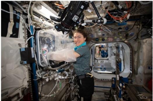 Astronaut Christina Koch printing tissue