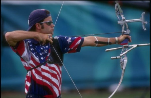 Justin Huish, gold medal Archery 1996