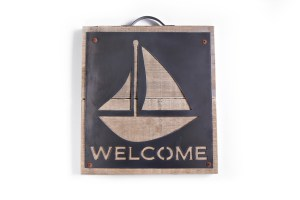 Sailboat Welcome Sign