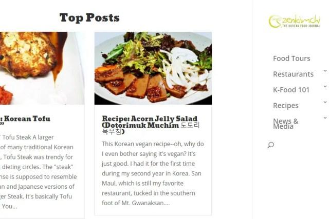 The Korean Food Journal. Credits: http://zenkimchi.com/