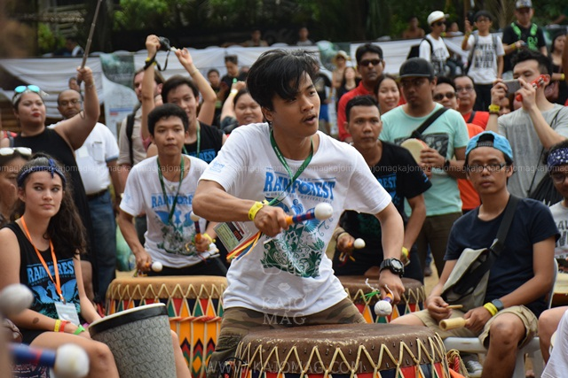 One of the main highlight during the RWMF is the drum circle