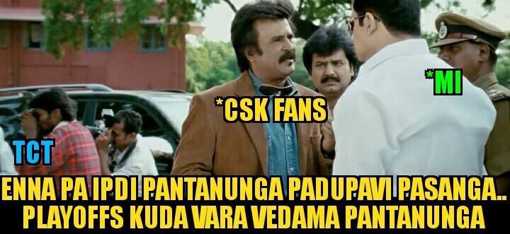 Csk fans to MI