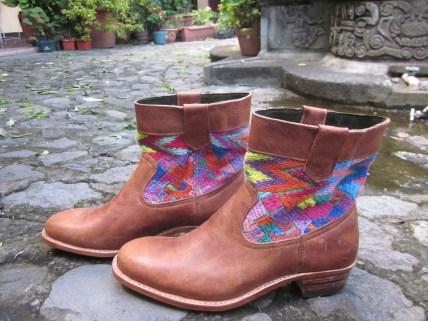 Short Straight Boot with San Jose Nacahuil Huipil