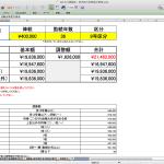退職金・若年給付金簡易計算表の修正版(ver.6.3)を公開しました。