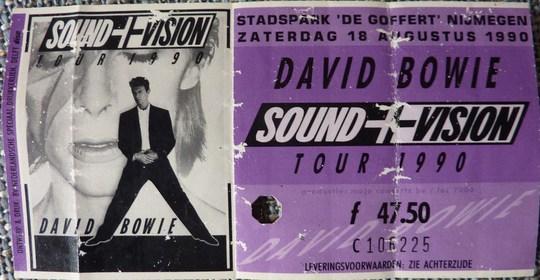 Concertkaartje Bowie