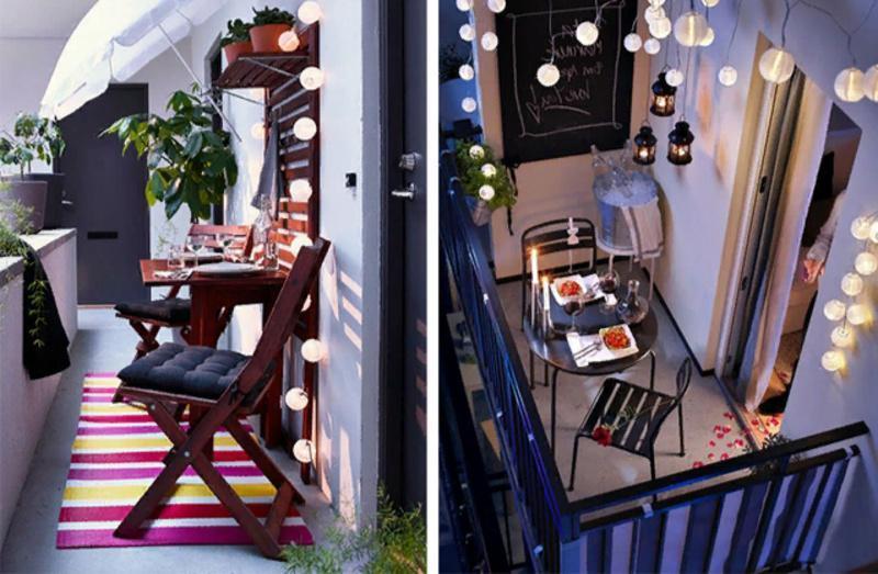 Украшение интерьера балкона, лоджии с помощью дизайнерского освещения