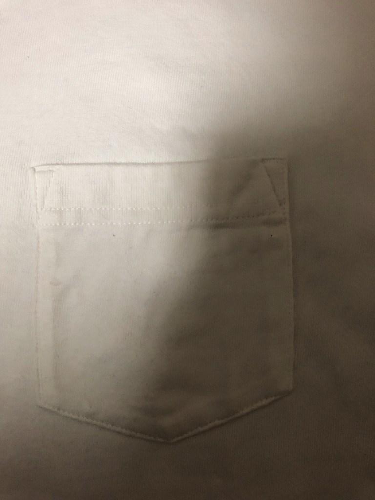Tシャツのポケット