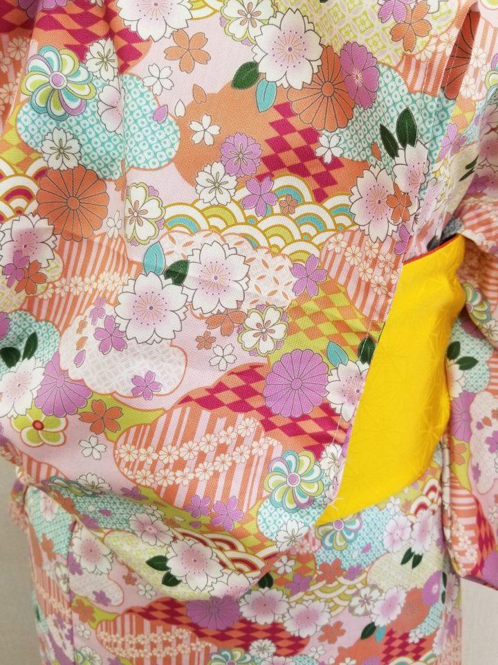 浴衣 寝巻き仕立て 袖