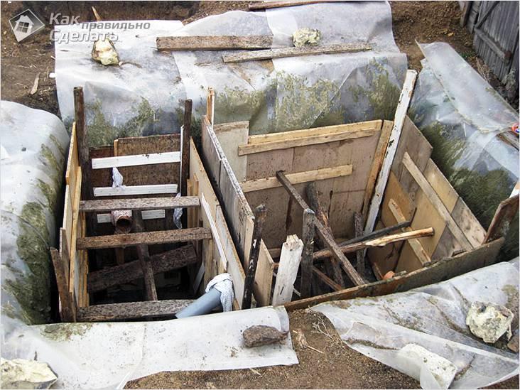 Опалубка для бетонного септика