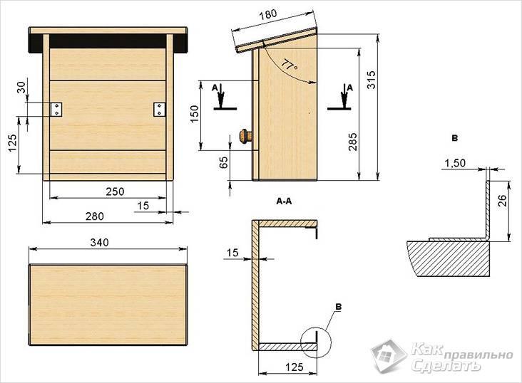 مخطط صندوق البريد الخشبي
