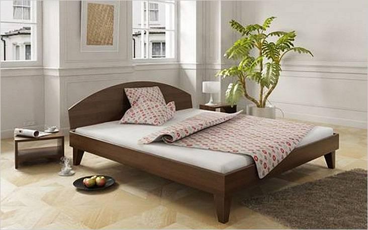 Ξύλινο κρεβάτι με ημικυκλική πλάτη