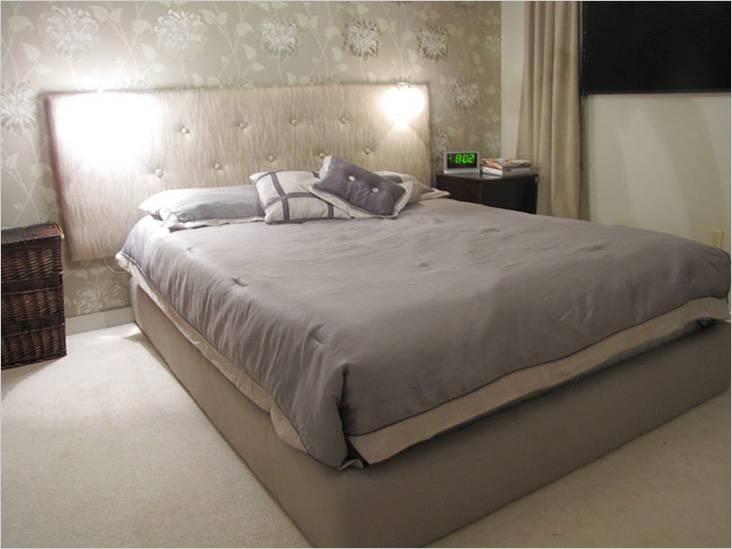 Το κρεβάτι είναι πιο εύκολο να το κάνετε χωρίς πίσω - μπορεί να στερεωθεί στον τοίχο
