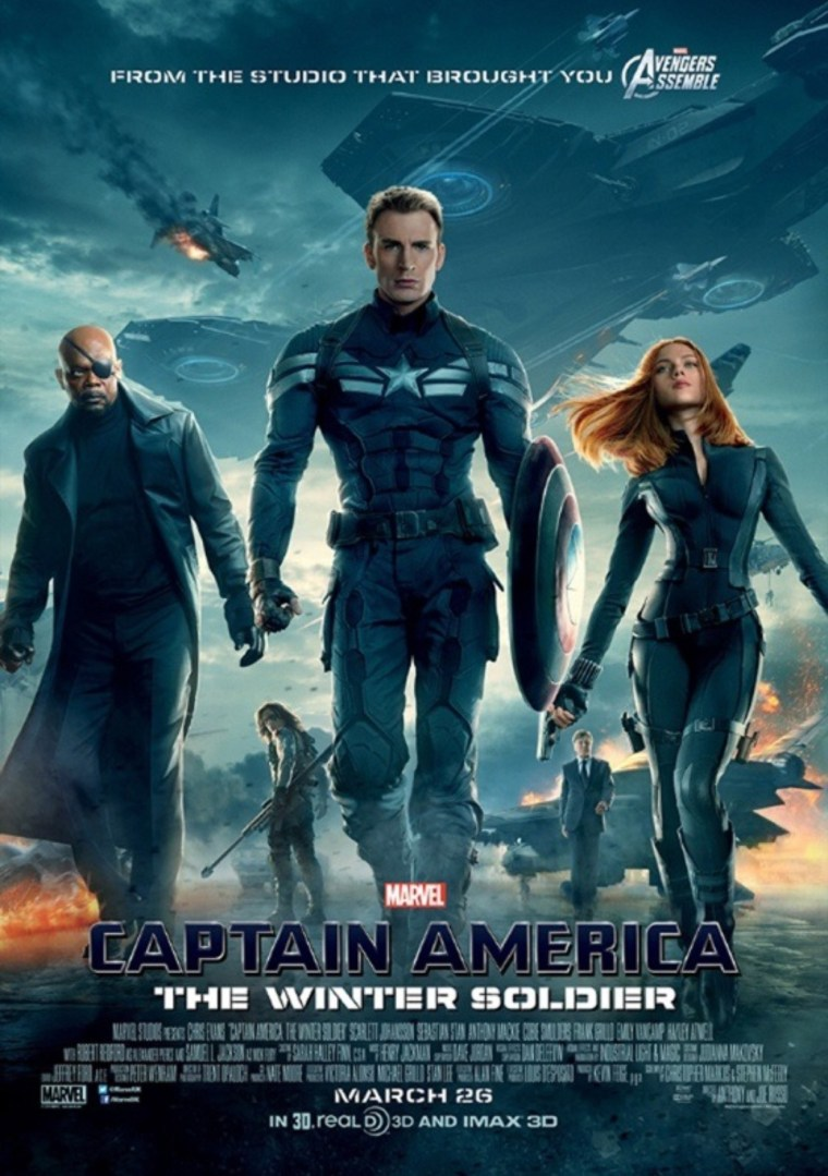 Captain America The Winter Soldier 2014 Poster