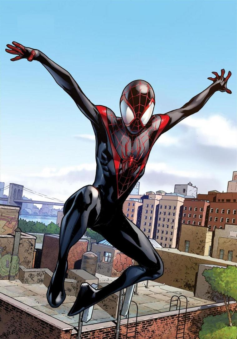 Miles_Morales_debut_as_Spider-Man