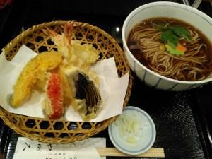 やぶ久の天ぷら蕎麦