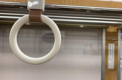阪急電車のつり革