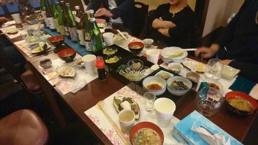 日本酒とつまみ各種