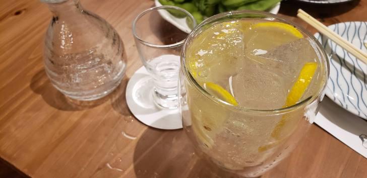 レモンサワーが美味しい♪