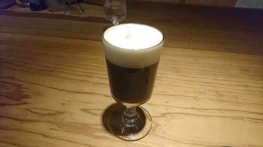 アイリッシュコーヒー 完成 アイリッシュコーヒー 完成