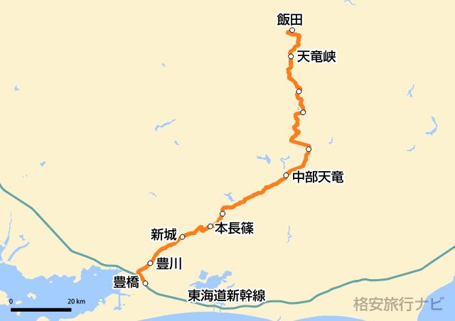 特急ワイドビュー伊那路 路線図