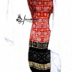 Red-Black GajiSilk Gharchola DressMaterial