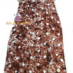 Brown Bandhani Night Gown