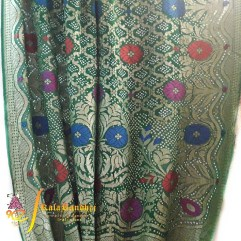 Green Pure Minakari Saree