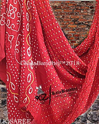 Red Gaji Silk Saree