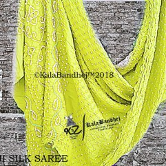 Yellow Gaji Silk Saree