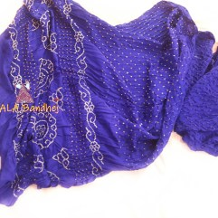 Purple Gaji Silk Saree