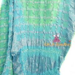 Turquoise - AquaMarine Gharchola Saree