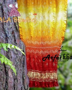 ArfatKhatri's Designer Sunrise Ombre Bandhani Dupatta