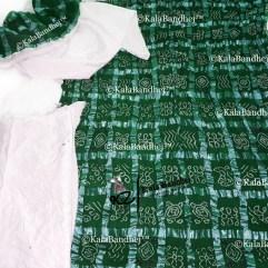 green Gharchola DressMaterial