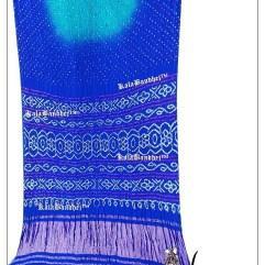 Sky-Blue GajiSilk LAGDI-P Saree