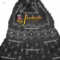 Black gaji silk bandhani dupatta