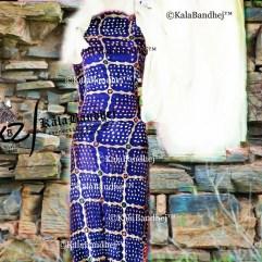 dressmaterial Gaji gharchola blue