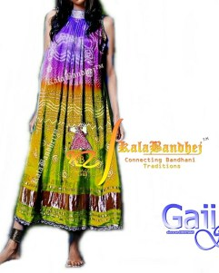 purple mehndi gajisilk Gown