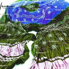 royalblue-green gajisilk khatri dupatta