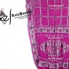 pink gharchola saree semi-satin-gajisilk