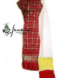 RED-Y GajiSilk Gharchola DressMaterial