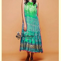 Turquoise-Sky GajiSilk Gown