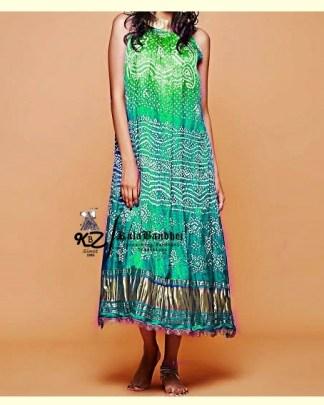 Turquoise-Sky GajiSilk Gown