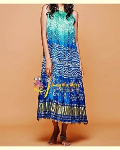 Turquoise - Blue GajiSilk Gown