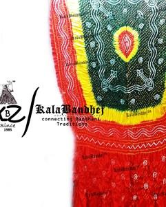 red tricolor Gajisilk dupatta