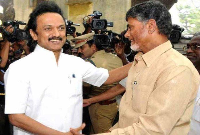 Chandra Babu Naidu Meets Stalin